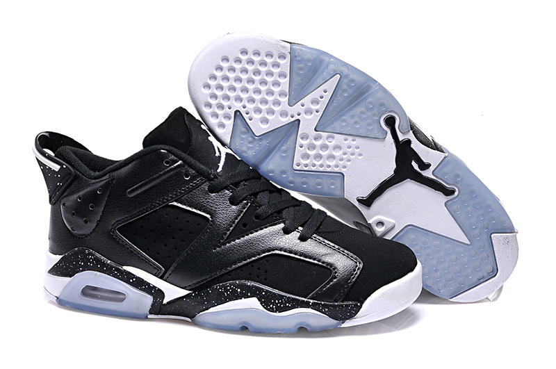 New Air Jordan 6 Low GS Black Oreo 2015