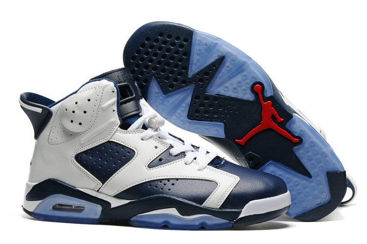 New Air Jordan 6 Olympic White Midnight Navy Varsity Red
