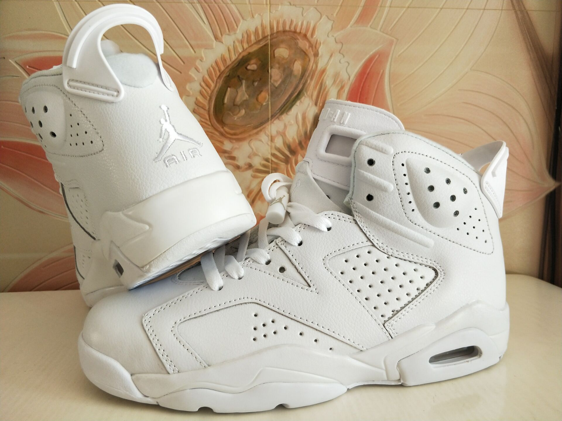 New Air Jordan 6 Retro All White Women Shoes
