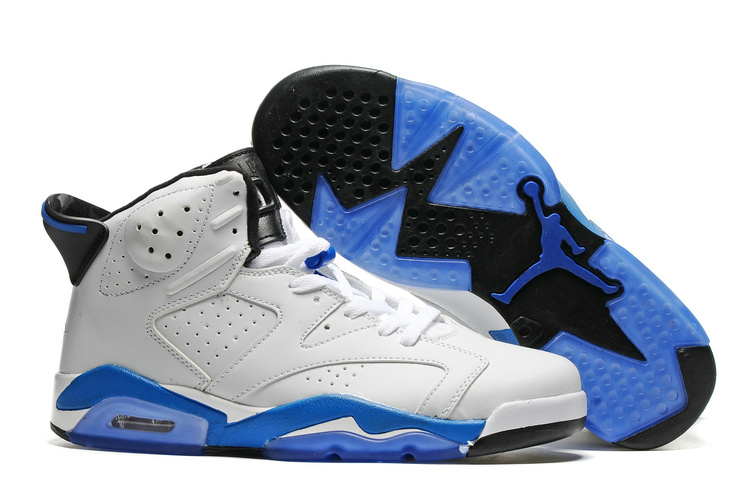 New Air Jordan 6 Sport Blue White Sport Blue Black