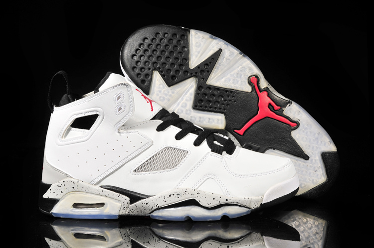 New Air Jordan 6 White Grey Black Shoes