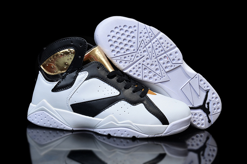 New Air Jordan 7 GS Champagne White Gold Black
