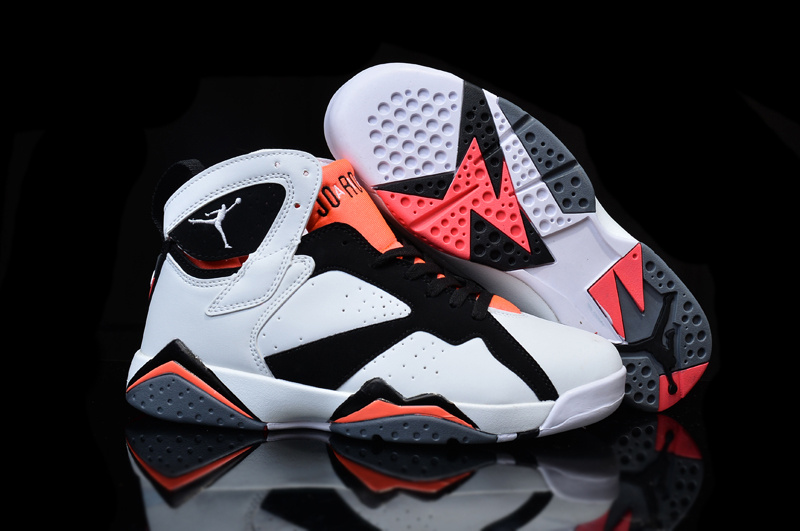 New Air Jordan 7 GS Hot Lava White Black Hot Lava