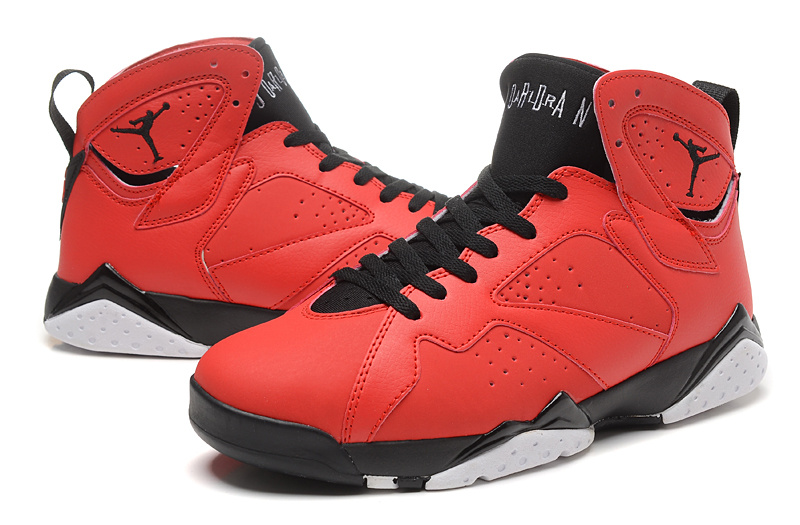 New Air Jordan Retro 7 Red Black Shoes