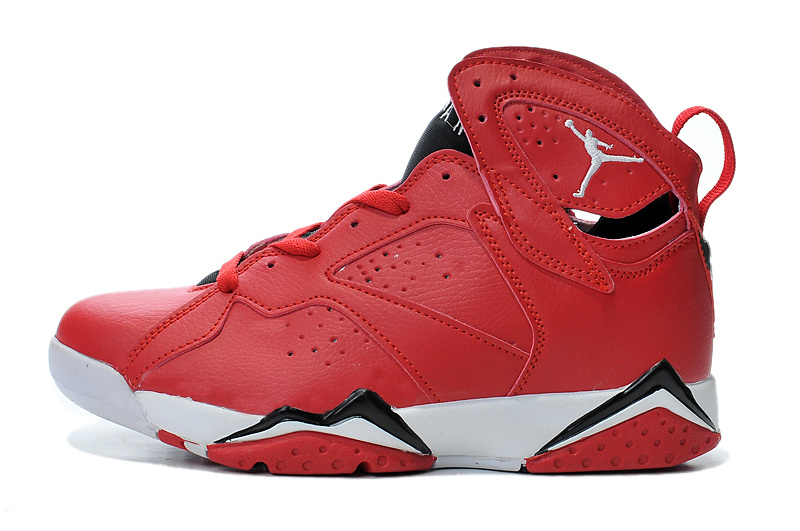 New Air Jordan Retro 7 Red White Black Shoes