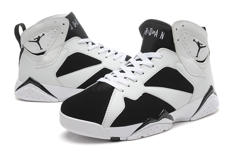 air jordan retro 7 black and white picture