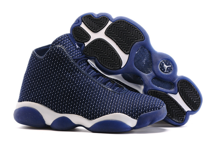 New Air Jordan Horizon Future AJ13 Midnight Navy Pure Platinum White