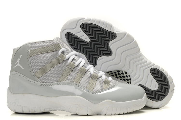 Authentic Cheap Jordan Retro 11 Grey White