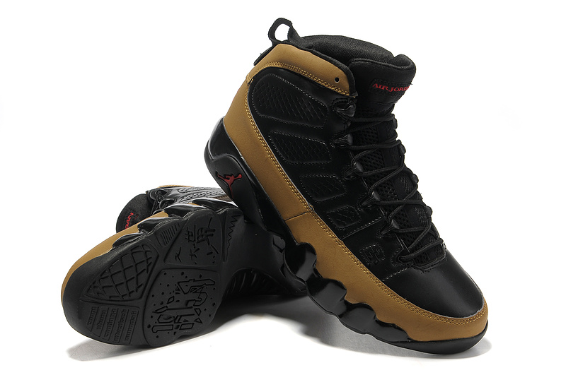 Authentic Jordan 9 Hardback Black Brown Shoes