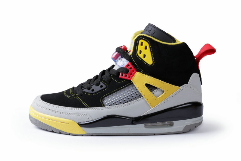 Classic Jordan Spizike Black Grey Yellow Shoes