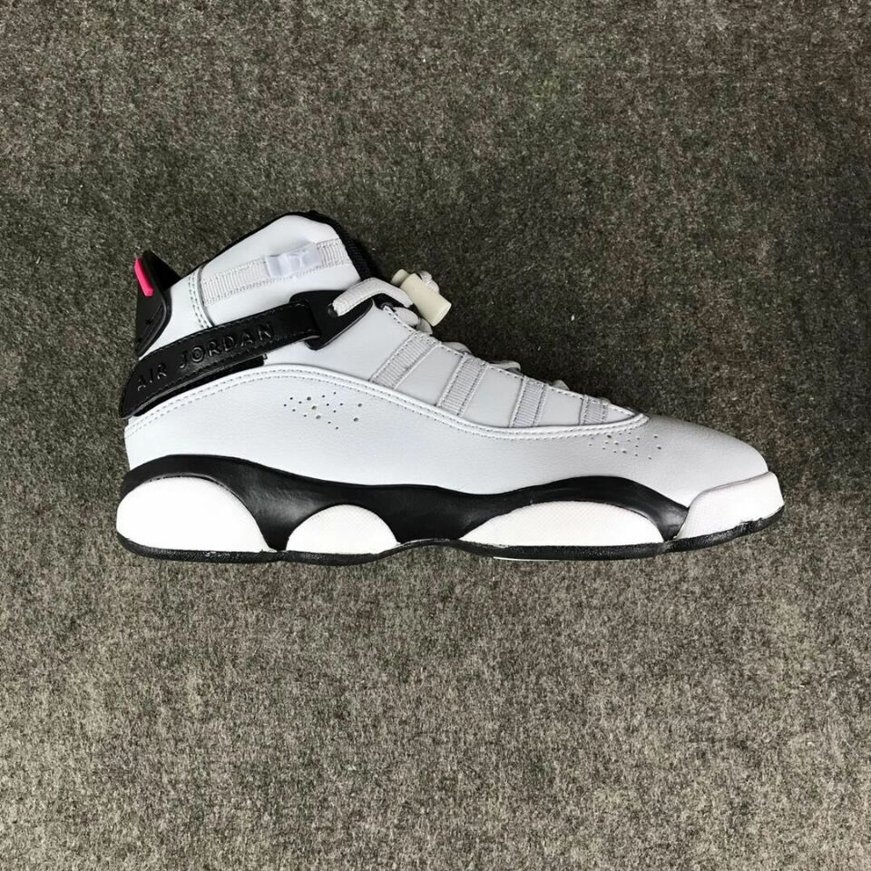 New Air Jordan VI Rings White Black For Women