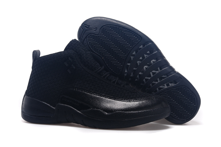 2015 Real All Black Jordan 12 Future Shoes