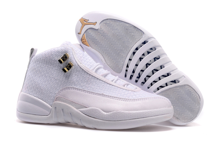 2015 Real All White Jordan 12 Future Shoes