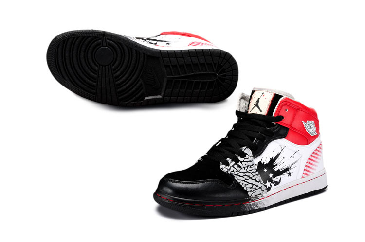 New Jordan 1 The Wing Of Future Black White Red Shoes