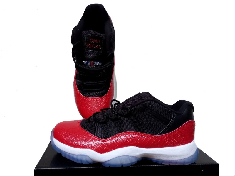 New Jordan 11 Low Red Black White Men Women Shoes