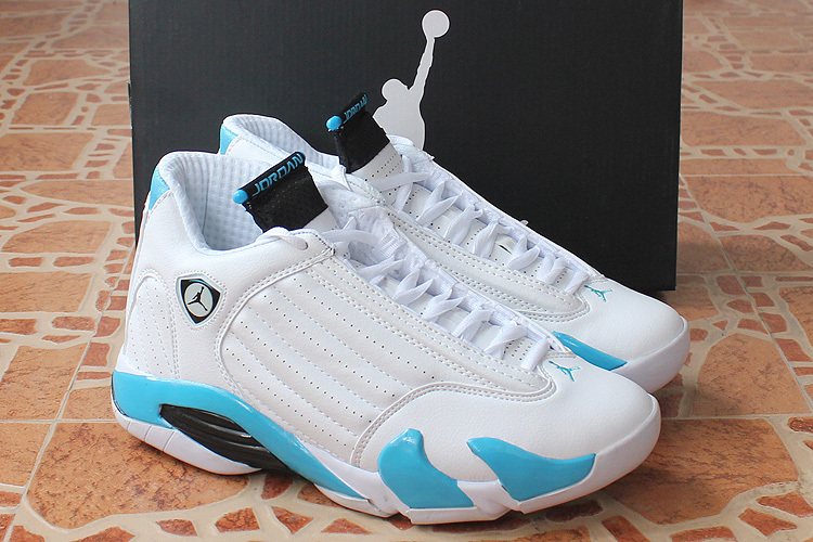 New Air Jordan 14 Retro White Baby Blue Shoes