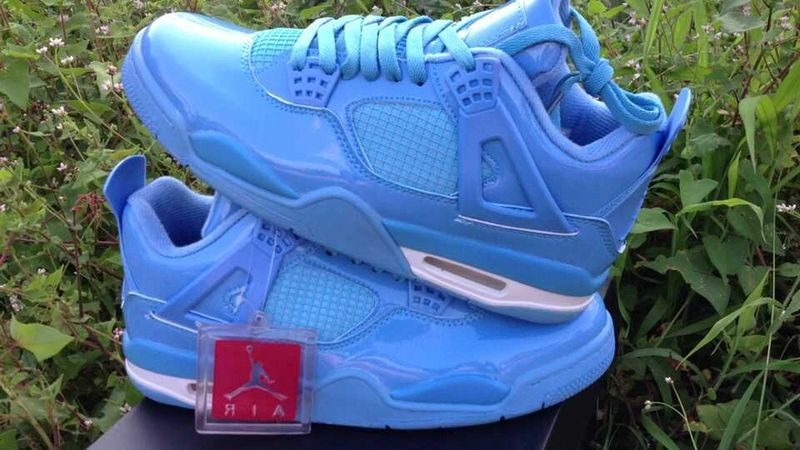 Cheap 2015 Air Jordan 4 Retro All Blue Shoes