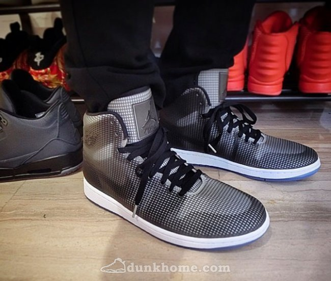 Cheap 2015 Air Jordan 4LAB1 Black Grey Shoes