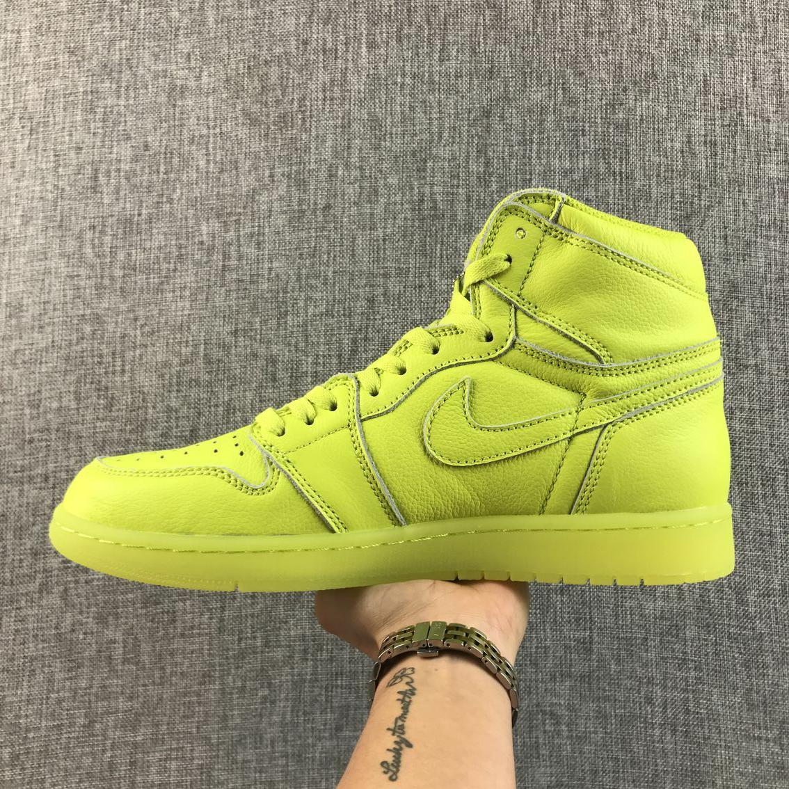 New Men Air Jordan 1 Retro Green