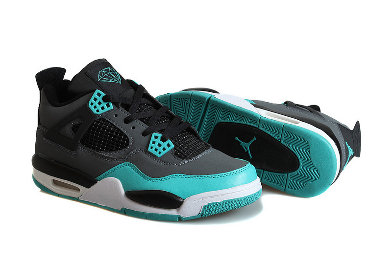 New Retro Jordan 4 Tiffany Grey Green White Shoes