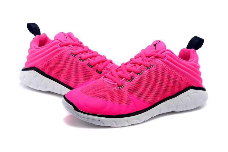 2015 Women Jordan Running Shoes Pink Black White