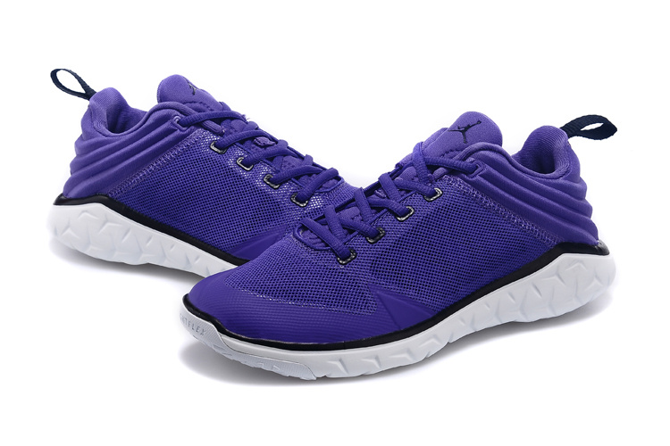 2015 Women Jordan Running Shoes Purple White