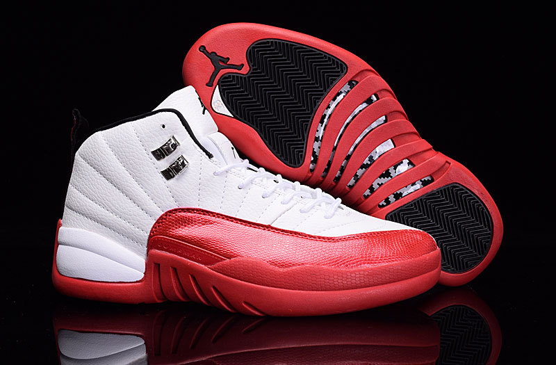 Newest Air Jordan 12 Cherry White Varsity Red Black Sale