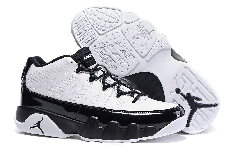 Nike Air Jordan 9 Retro Low White Black Cheap Sale