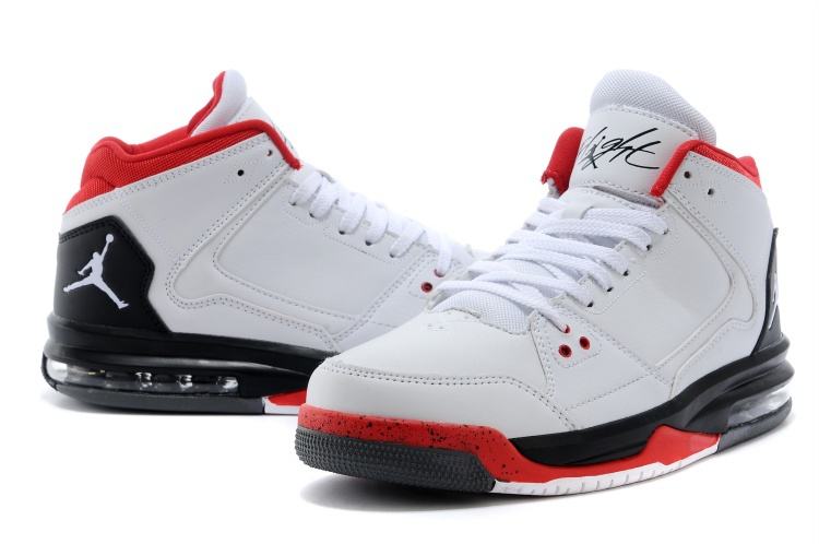 Nike Jordan Flight Origin White Black Red Basketball Shoes
