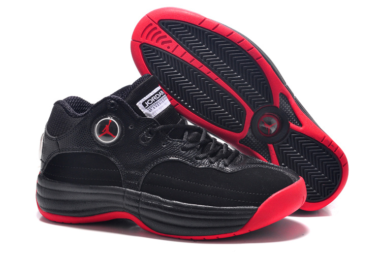 Air Jordan Jumpman Tai Ji Black Red Shoes