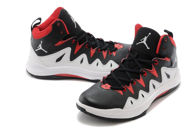 Nike Jordan Prime Mania X Black Red White Basketball Shoes