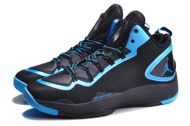 Nike Jordan Super Fly 2 PO Black Blue Basketball Shoes