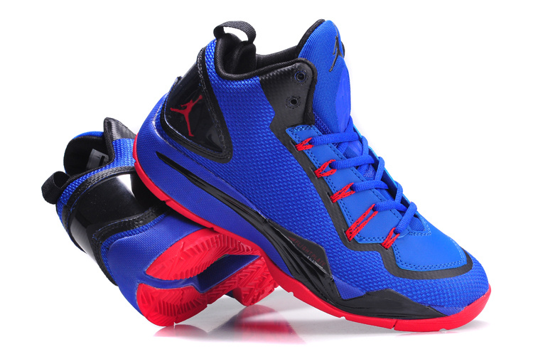 Nike Jordan Super Fly 2 PO Blue Black Red Basketball Shoes