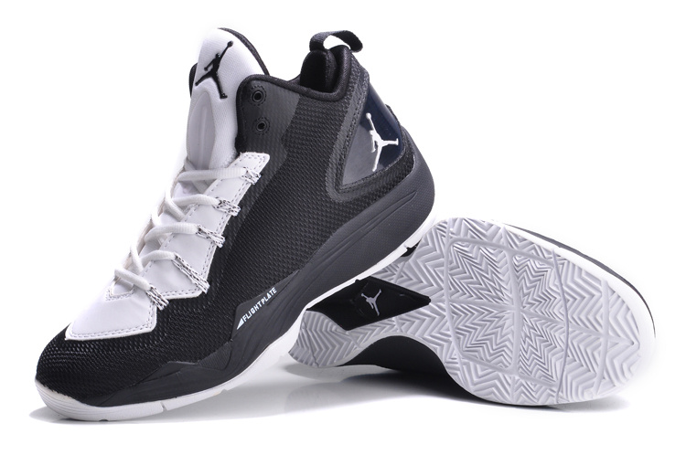 Nike Jordan Super Fly 2 PO Dark Black White Basketball Shoes