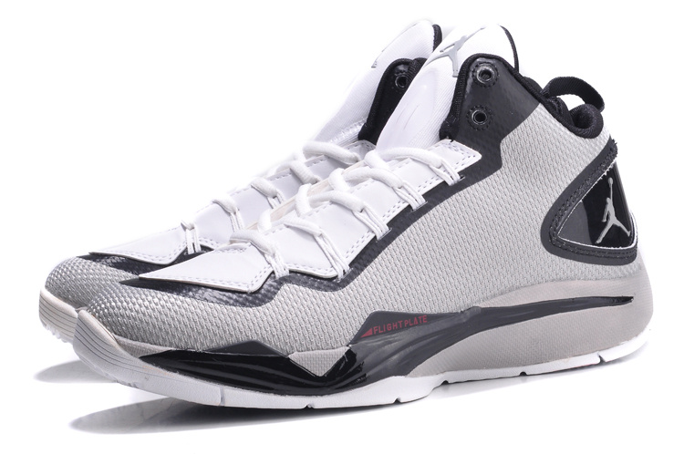 Nike Jordan Super Fly 2 PO Grey Black White Basketball Shoes