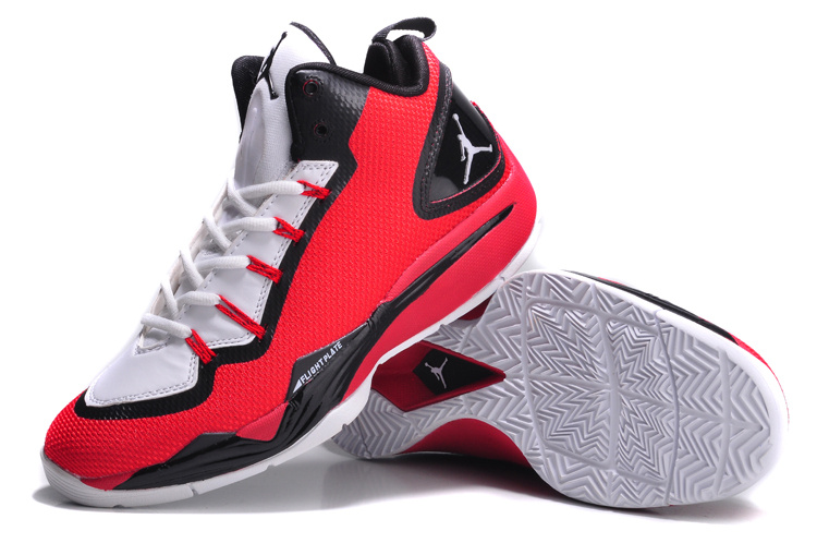 Nike Jordan Super Fly 2 PO Red Black White Basketball Shoes