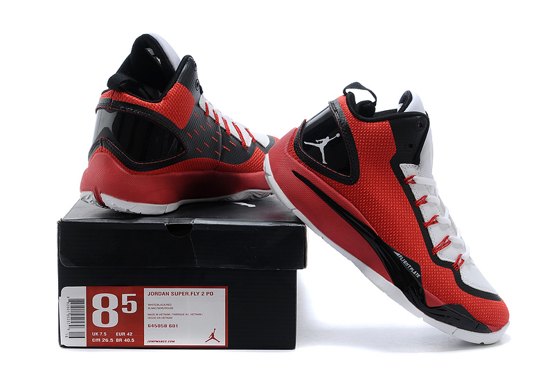 Nike Jordan Super Fly 2 Po X Red White Black Basketball Shoes