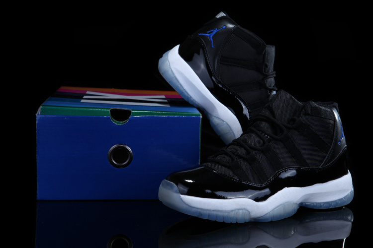 Air Jordan 11 Concord Black White Shoes with Rainbow Package