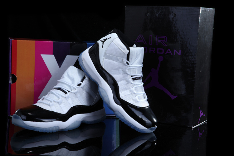Air Jordan 11 Concord White Black Shoes with Rainbow Package