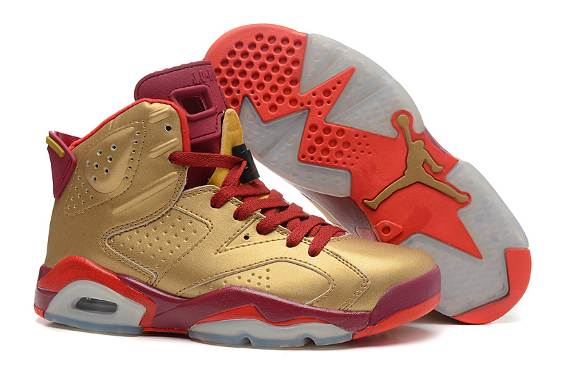 Sale Air Jordan 6 Retro Metal Gold Deep Red Varsity Red