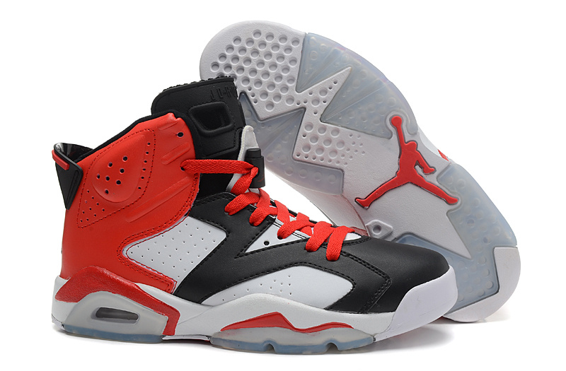 Sale Cheap Air Jordan 6 Retro Black White Red For Mens