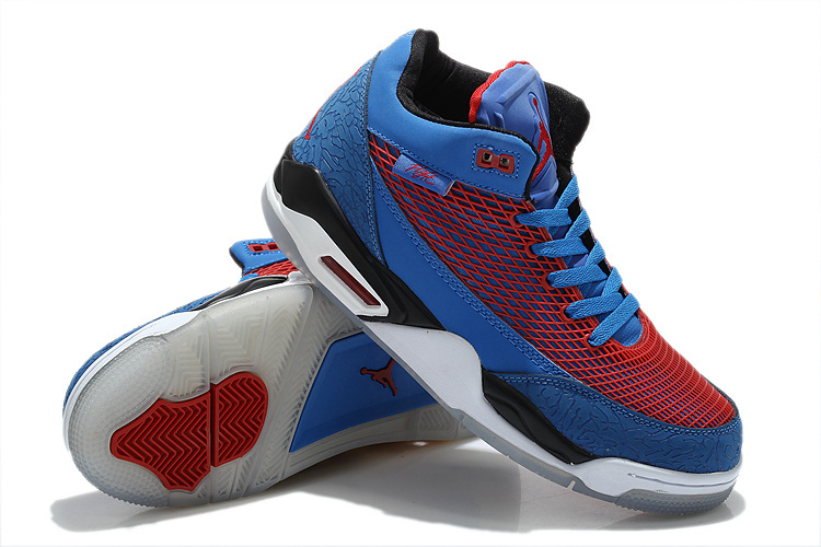 2015 Air Jordan Flight Club 80S Blue Red White Shoes