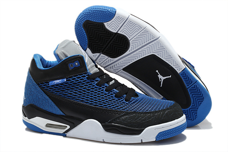 2015 Air Jordan Flight Club 80S Dark Blue Black Shoes