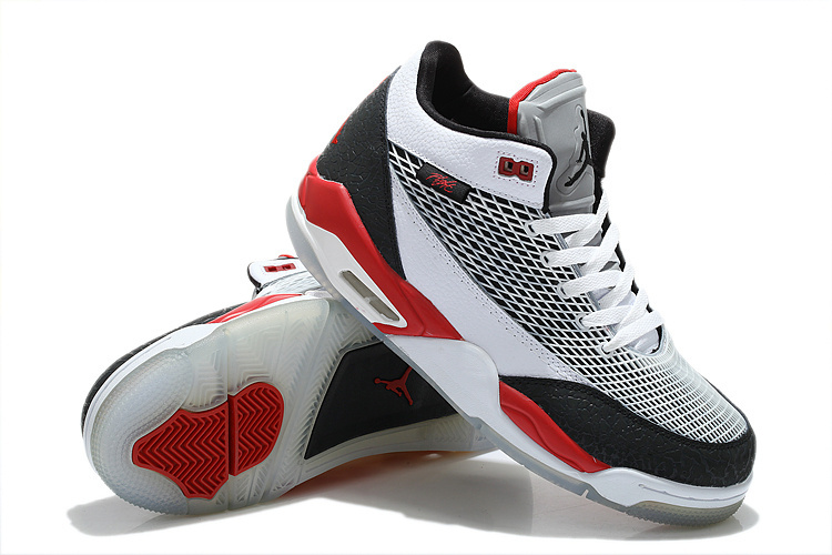 2015 Air Jordan Flight Club 80S White Grey Black Red Shoes
