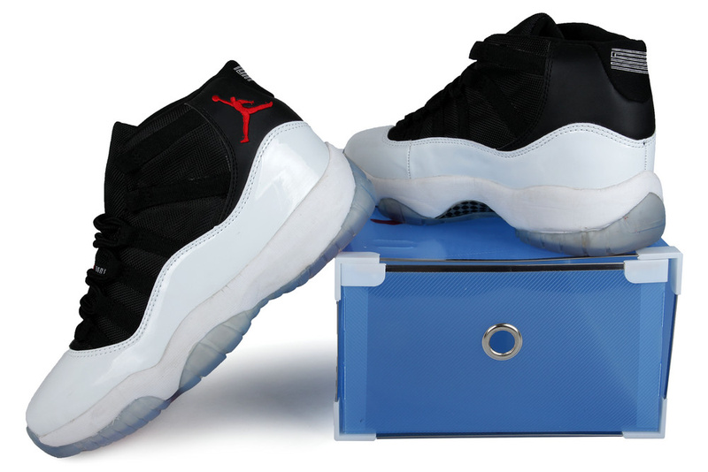 2013 Jordan 11 Retro Black White Crystal Transparent Package