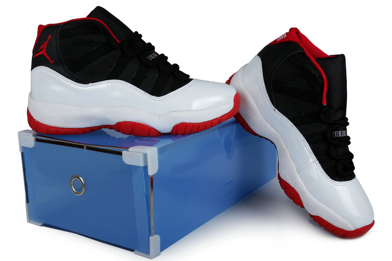 2013 Jordan 11 Retro Black White Red Crystal Transparent Package