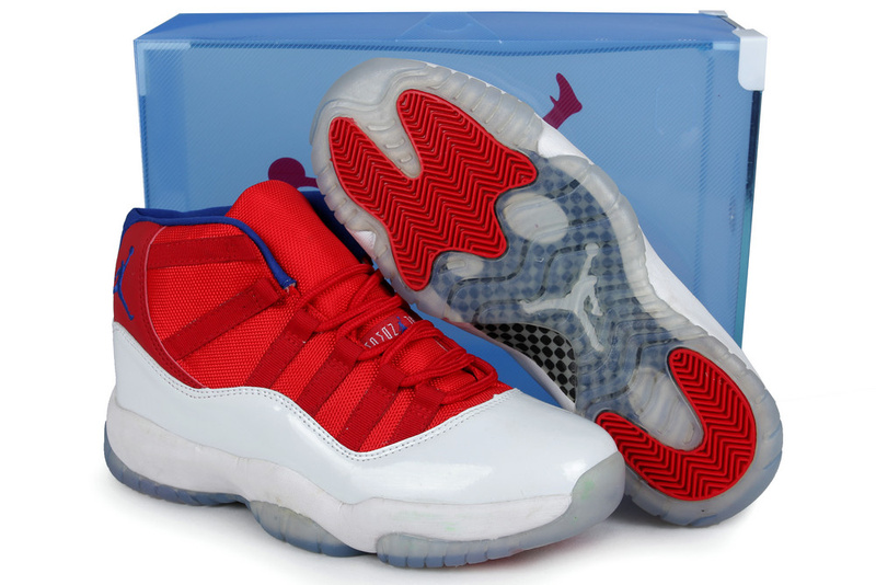 2013 Jordan 11 Retro Red White Crystal Transparent Package
