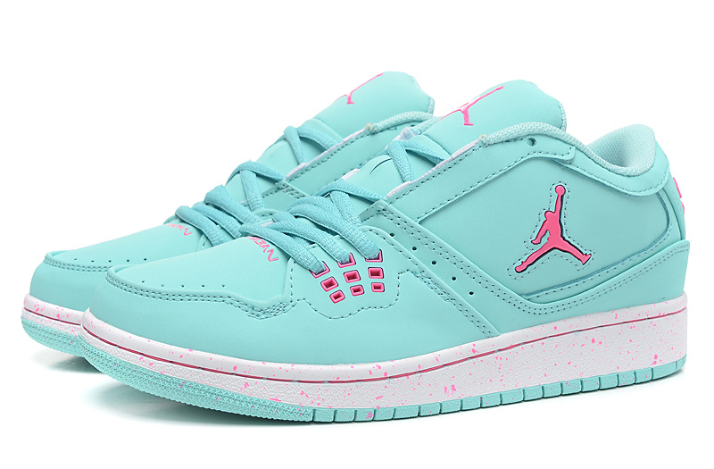 Women Air Jordan 1 GS Low Aquamarine Pink 2015