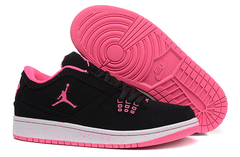 Women Air Jordan 1 GS Low Black Pink 2015