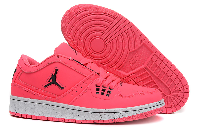 Women Air Jordan 1 GS Low Pink Black 2015